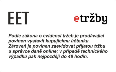 EET označení provozovny - obchodRAZITEK.cz