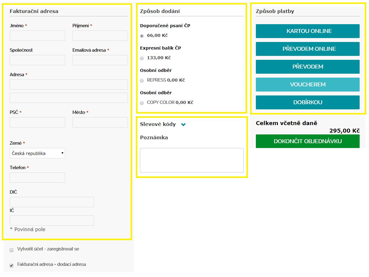 způsob dodání || obchodRAZITEK.cz