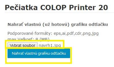 nahrát vlastní grafiku - krok 2 - obchodRAZITEK.cz