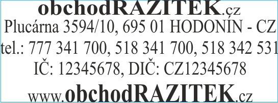 Velikosti 18x47 mm - vzor 2 || obchodRAZITEK.cz