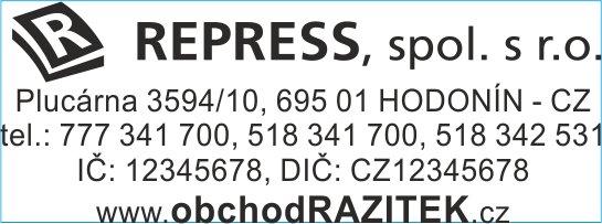 Velikosti 18x47 mm - vzor 3 || obchodRAZITEK.cz