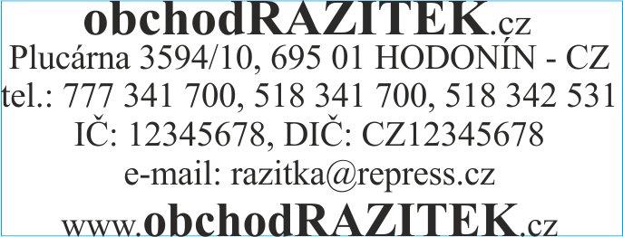 Velikosti 23x59 mm - vzor 2 || obchodRAZITEK.cz