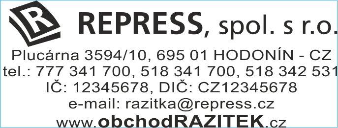 Velikosti 23x59 mm - vzor 3 || obchodRAZITEK.cz