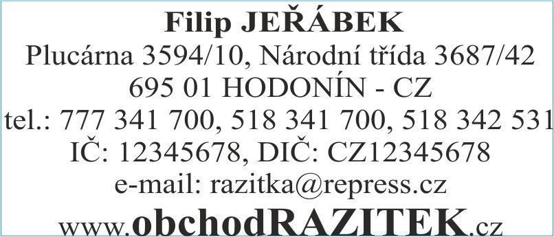 Velikosti 30x69 mm - vzor 1|| obchodRAZITEK.cz