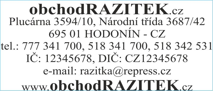 Velikosti 30x69 mm - vzor 2 || obchodRAZITEK.cz