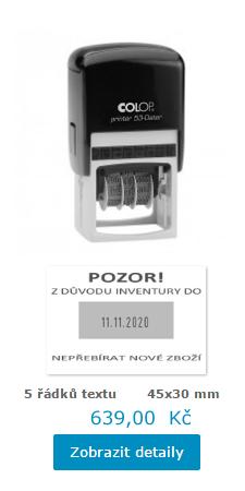 datumové razítko Printer 53 Dater || obchodRAZITEK.cz