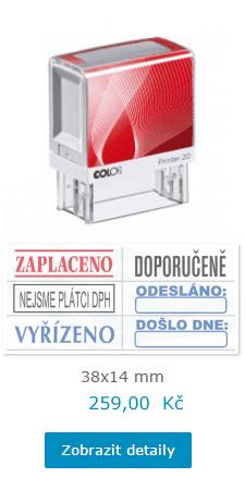 razítko s hotovými vzory || obchodRAZITEK.cz