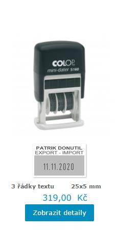 datumové razítko Printer S 160 || obchodRAZITEK.cz