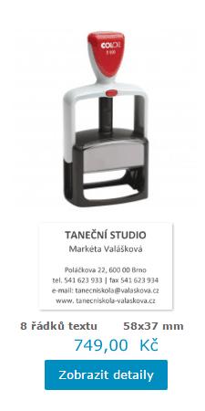 robustní profesionální razítko Office S 600 || obchodRAZITEK.cz