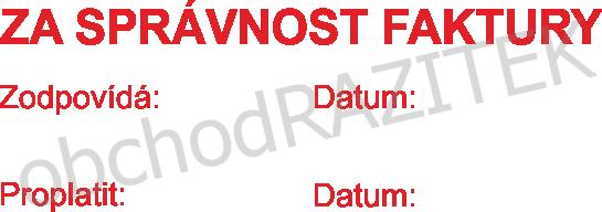razítko za správnost faktury || obchodRAZITEK.cz