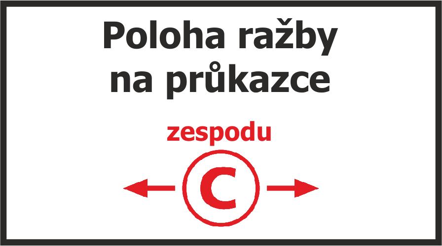 Pozice reliéfního razítka na papíře - obchodRAZITEK.cz