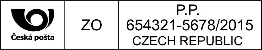 Poštovní razítko - mezinárodní zásilka - vzor 4 || obchodRAZITEK.cz