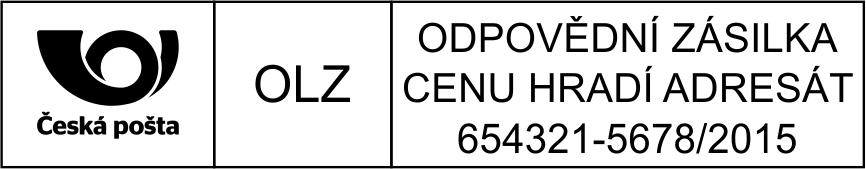 Poštovní razítko - odpovědní zásilka - vzor 5 || obchodRAZITEK.cz