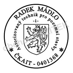 1. řádkové razítko pro ČKAIT || obchodRAZITEK.cz