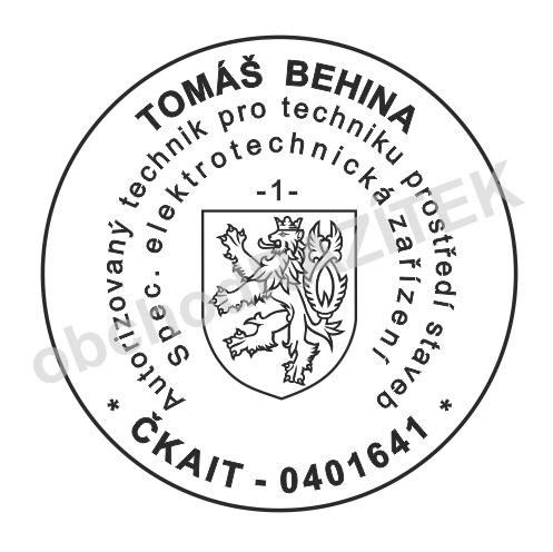 razítko pro ČKAIT (komora autorizovaných inženýrů) - obchodRAZITEK.cz