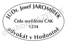 Kulaté razítka pro advokáty - ovál 55mm || obchodRAZITEK.cz