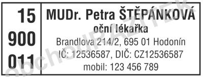 razítko pro lékaře - rozšířené || obchodRAZITEK.cz