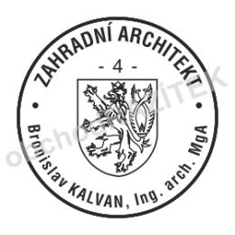 Kulaté razítka pro architekty - ø 20mm || obchodRAZITEK.cz