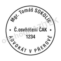 Kulaté razítka pro advokáty - ø 24mm || obchodRAZITEK.cz