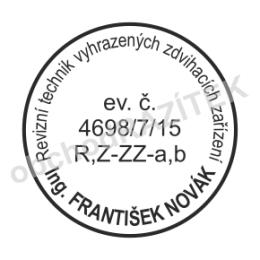 Kulaté razítka pro revizního technika - ø 24mm || obchodRAZITEK.cz