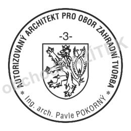 Kulaté razítka pro architekty - ø 25mm || obchodRAZITEK.cz
