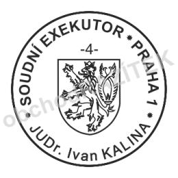 Kulaté razítka pro exekutory - ø 25mm || obchodRAZITEK.cz