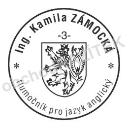 Kulaté razítka pro soudní tlumočníky - ø 25mm || obchodRAZITEK.cz