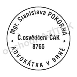 Kulaté razítka pro advokáty || obchodRAZITEK.cz