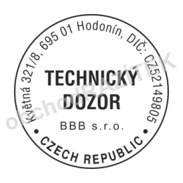Kulaté razítka pro revizního technika - ø 30mm || obchodRAZITEK.cz