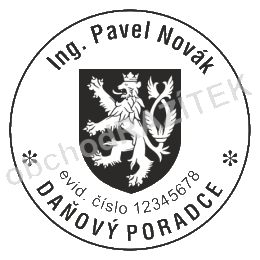 Kulaté razítka pro daňového poradce || obchodRAZITEK.cz