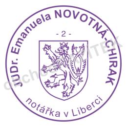 Kulaté razítka pro notáře - ø 36mm || obchodRAZITEK.cz