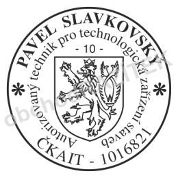 Kulaté razítka pro soudní znalce - ø 36mm || obchodRAZITEK.cz