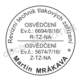 Kulaté razítka pro revizní techniky || obchodRAZITEK.cz