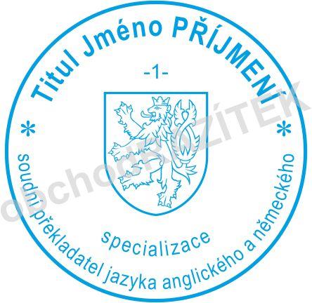 Soudní tlumočník - razítko || obchodRAZITEK.cz