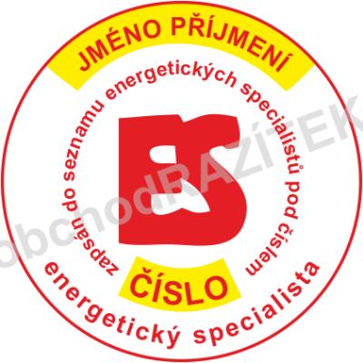 razítko energetického specialisty || obchodRAZITEK.cz