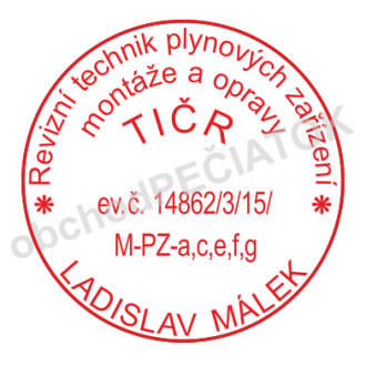 Kulaté razítka pro revizní technicky TIČR || obchodRAZITEK.cz