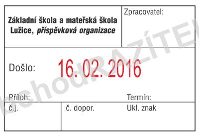 razítko na podatelny - vzor 1 || obchodRAZITEK.cz